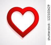 red heart frame   raster...   Shutterstock . vector #122102629