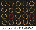 golden vector laurel wreaths on ...   Shutterstock .eps vector #1221026860