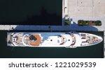aerial drone bird's eye view... | Shutterstock . vector #1221029539