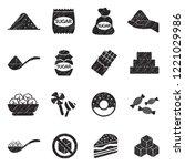 Sugar Icons. Black Scribble...