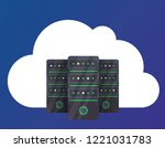cloud servers illustration....   Shutterstock .eps vector #1221031783