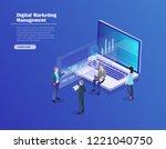 digital marketing management ...   Shutterstock .eps vector #1221040750