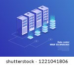 web hosting and big data... | Shutterstock .eps vector #1221041806