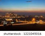 an urban gurgaon at dusk | Shutterstock . vector #1221045016