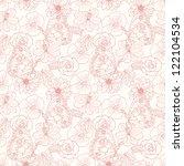 butterfly seamless pattern | Shutterstock .eps vector #122104534