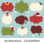 vintage christmas label banner... | Shutterstock .eps vector #122104564