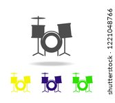 drums multicolored icons....