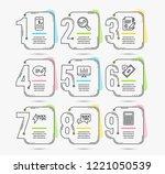 infographic timeline set of... | Shutterstock .eps vector #1221050539