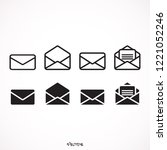 set envelope icons in trendy...