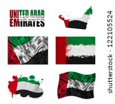 united arab emirates flag and... | Shutterstock . vector #122105524