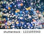 blurred bokeh light background  ... | Shutterstock . vector #1221055543