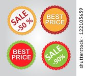 stickers for sale messages | Shutterstock .eps vector #122105659