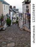 cobbled street of clovelly   Shutterstock . vector #1221056989