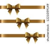 vector set of decorative golden ... | Shutterstock .eps vector #1221059149