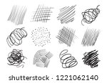 hand drawn lines on isolated...   Shutterstock .eps vector #1221062140
