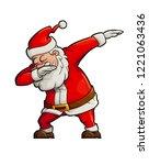 happy dancing santa claus doing ... | Shutterstock .eps vector #1221063436