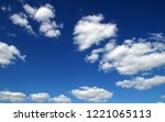 background of blue sky and... | Shutterstock . vector #1221065113