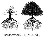 tree with roots isolated on... | Shutterstock .eps vector #122106733