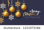merry christmas and happy new... | Shutterstock .eps vector #1221073186
