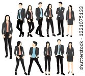 set of men and women standing ... | Shutterstock .eps vector #1221075133