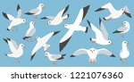 cartoon atlantic seabird ... | Shutterstock .eps vector #1221076360