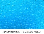 clear water drops transparent... | Shutterstock . vector #1221077560