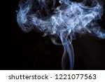 thick smoke on a black isolated ... | Shutterstock . vector #1221077563