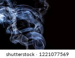 thick smoke on a black isolated ... | Shutterstock . vector #1221077569