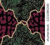 Chain Leopard Pattern Background
