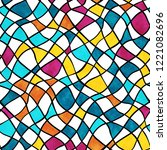 vector seamless pattern with... | Shutterstock .eps vector #1221082696
