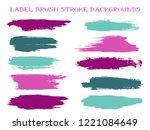 simple label brush stroke... | Shutterstock .eps vector #1221084649