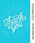 thank you  hand lettering thank ... | Shutterstock .eps vector #1221090223
