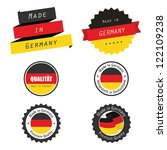 made in germany labels  badges... | Shutterstock .eps vector #122109238