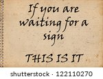 don't wait now is the time | Shutterstock . vector #122110270