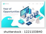 web banner with 2019 number ... | Shutterstock .eps vector #1221103840