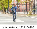 young black man in new york... | Shutterstock . vector #1221106906