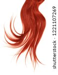disheveled red hair isolated on ... | Shutterstock . vector #1221107269