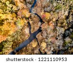 aerial drone image of colorful...   Shutterstock . vector #1221110953