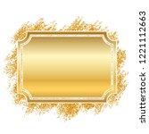 gold frame. beautiful golden... | Shutterstock .eps vector #1221112663
