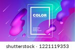 colorful geometric background.... | Shutterstock .eps vector #1221119353
