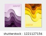 set of cover design abstract... | Shutterstock .eps vector #1221127156
