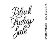 simple lettering vector black... | Shutterstock .eps vector #1221127276