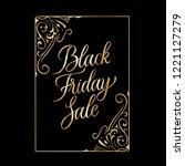 black friday sale golden text... | Shutterstock .eps vector #1221127279