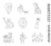 vector illustration of robot... | Shutterstock .eps vector #1221128506