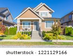 newly built house in the... | Shutterstock . vector #1221129166