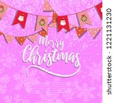 merry christmas design with... | Shutterstock .eps vector #1221131230