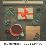 new year or christmas concept ... | Shutterstock . vector #1221134470