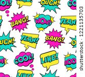 seamless colorful pattern with... | Shutterstock .eps vector #1221135703
