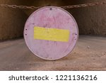 old red stop road sign  traffic ...   Shutterstock . vector #1221136216