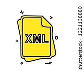 xml file type icon design vector | Shutterstock .eps vector #1221138880